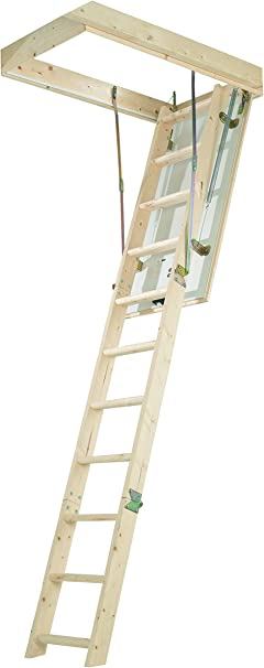Abru 35002 Juego completo para acceso a buhardilla, incluye trampilla con aislamiento, escalera y poste de extensión, capacidad de carga de 150 kg, certificación de seguridad EN14975: Amazon.es: Bricolaje y herramientas