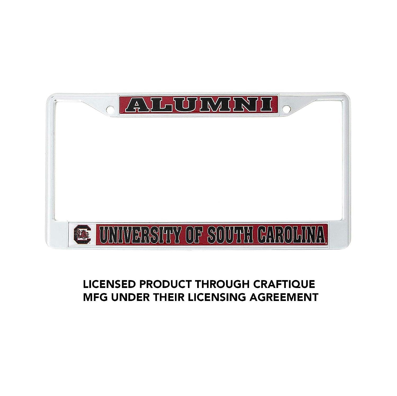 Alumni Desert Cactus University of South Carolina Alumni Metal License Plate Frame for Front Back of Car Officially Licensed