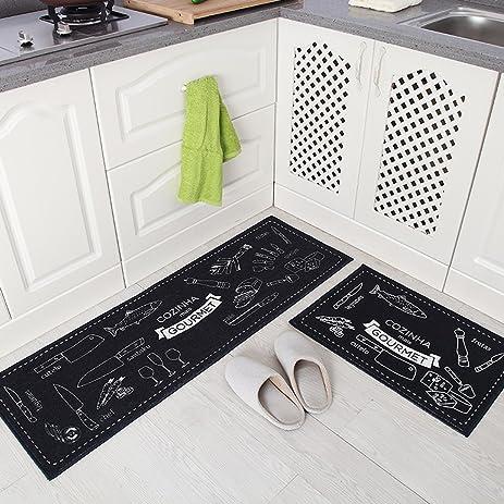 Amazon.com: MAXYOYO Personality Kitchen Floor Mats Long Suction ...