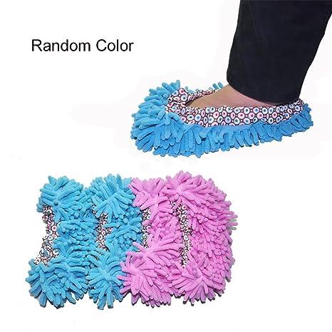 EQLEF Multi-función cheniiie Fibra mopa Zapatillas - se Puede Lavar a (par)