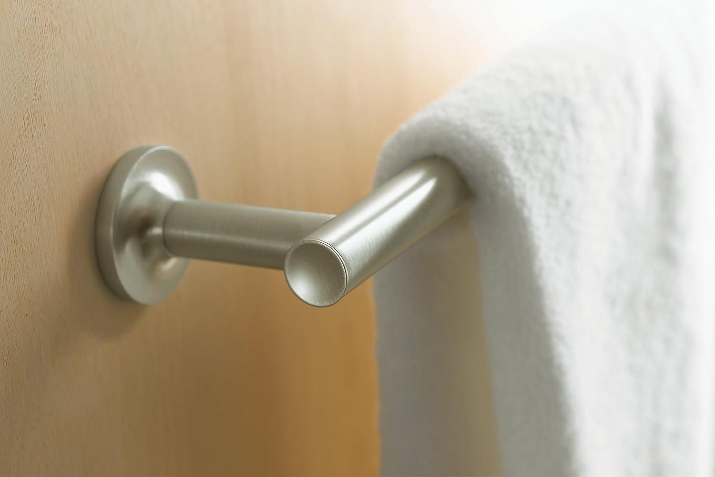 kohler k14436cp purist 24inch towel bar polished chrome kohler towel holders purist amazoncom - Kohler Purist