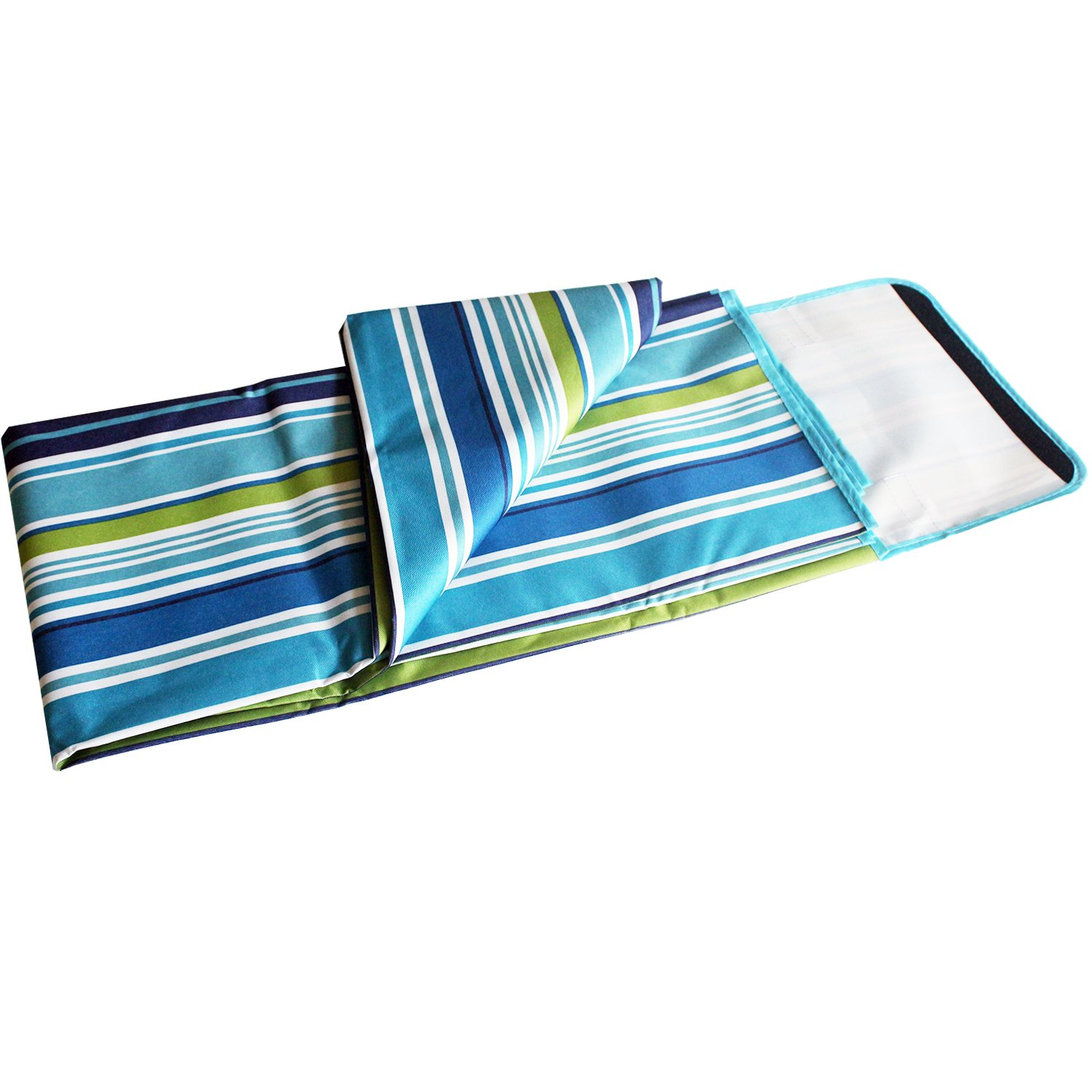 Picnic Mat by MagicDesign 70x62 Extra Large Foldable and Waterproof Camping Family Blanket with Tote for Outdoor Beach Hiking Grass Travel,Stripe and Mildew Resistant