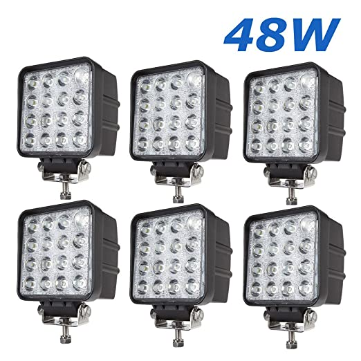 """81 opinioni per 6 X 48W 4.3"""" work light 4560LM faro da lavoro a LED da usare come proiettore"""