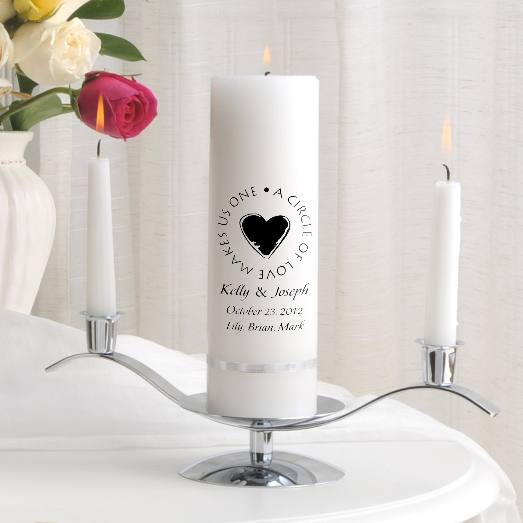 Personalized Wedding Unity Candle - Personalized Unity Candle Set - Second Marriage