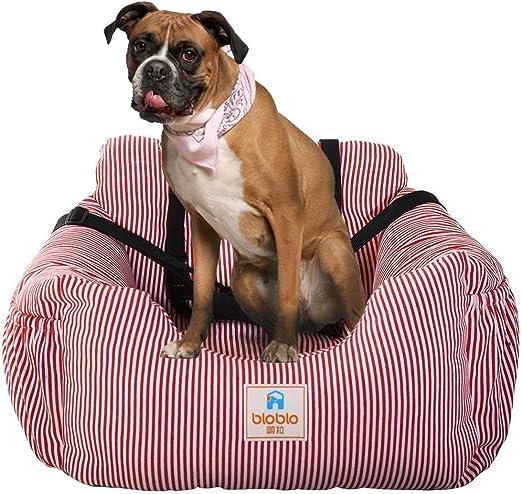 Cama para perros con asiento elevador para coche de mascotas con cinturón de seguridad y bolsillo de almacenamiento, bolsa de viaje para mascotas para viajes pequeños perros gatos cachorro: Amazon.es: Productos para