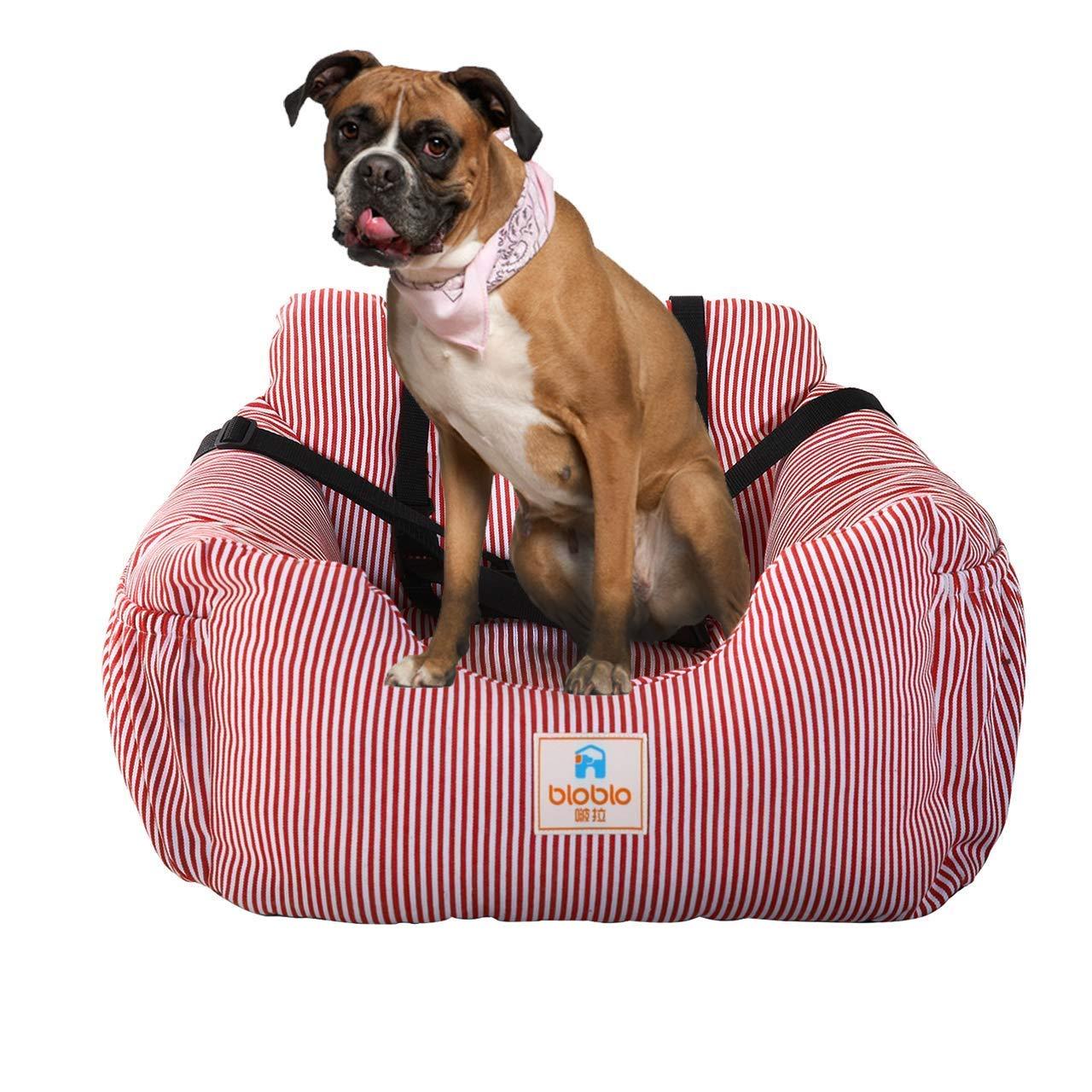 Bo /& Chao Dog Car Seat Travel Carrier Pet Travel Safety Car Seat Pet Booster posti Letto per Cani per Auto con Tasca portaoggetti Lavabile Cane seggiolino Auto