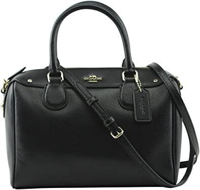 da6ea8332a Coach Crossgrain Mini Benet Satchel - Black  Handbags  Amazon.com