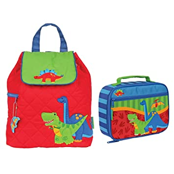 f2c0f63971e7 Stephen Joseph Boys Quilted Dinosaur Backpack and Lunch Box - Toddler  Backpacks - Preschool Backpacks  Amazon.co.uk  Sports   Outdoors