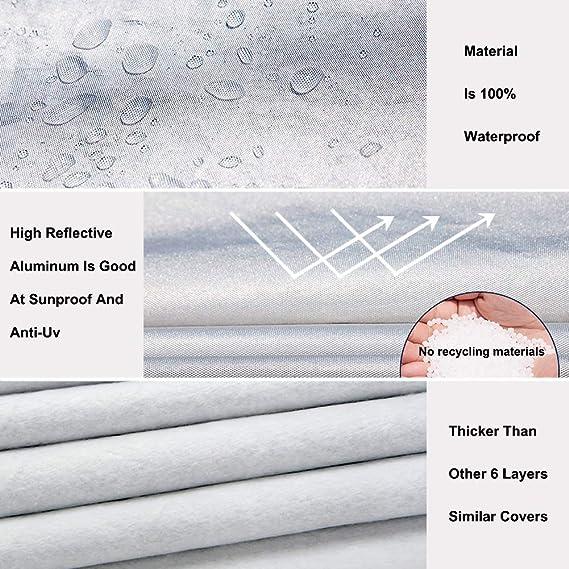 6 Layer Car Cover Indoor Outdoor Waterproof Breathable Layers Fleece Lining 3483