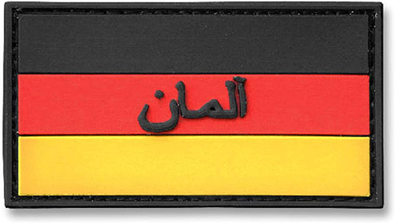 Copytec 3D Rubber Patch Deutschlandflagge Bundeswehr ISAF DEU Arabisch 3x5,5cm #14379
