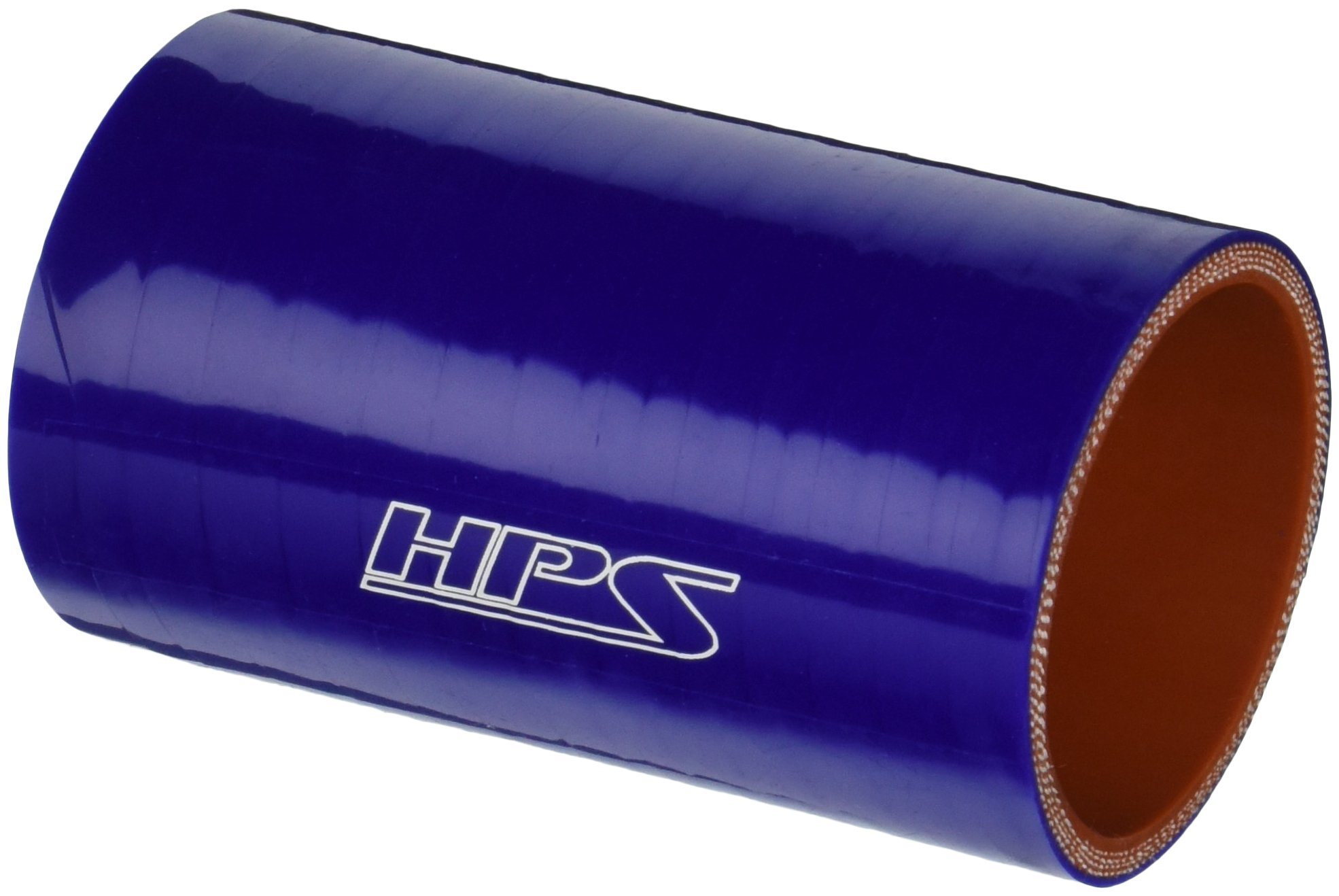 HPS HTSC-200-L4-BLUE Silicone High Temperature 4-ply Reinforced Straight Coupler Hose, 85 PSI Maximum Pressure, 4'' Length, 2'' ID, Blue