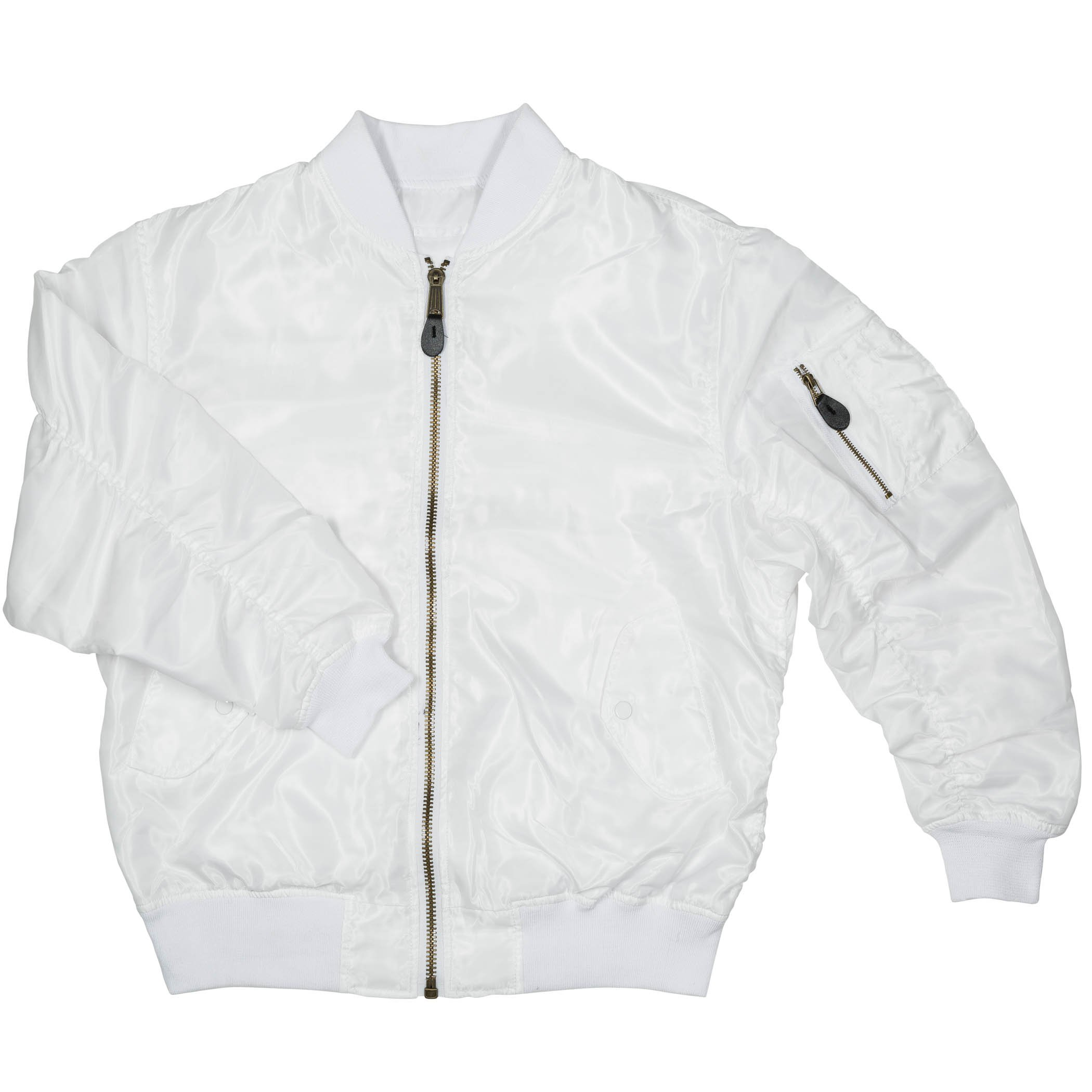 Men's MA-1 Spring Reversible Flight Bomber Pilot Jacket-MA6-Wht-Lg