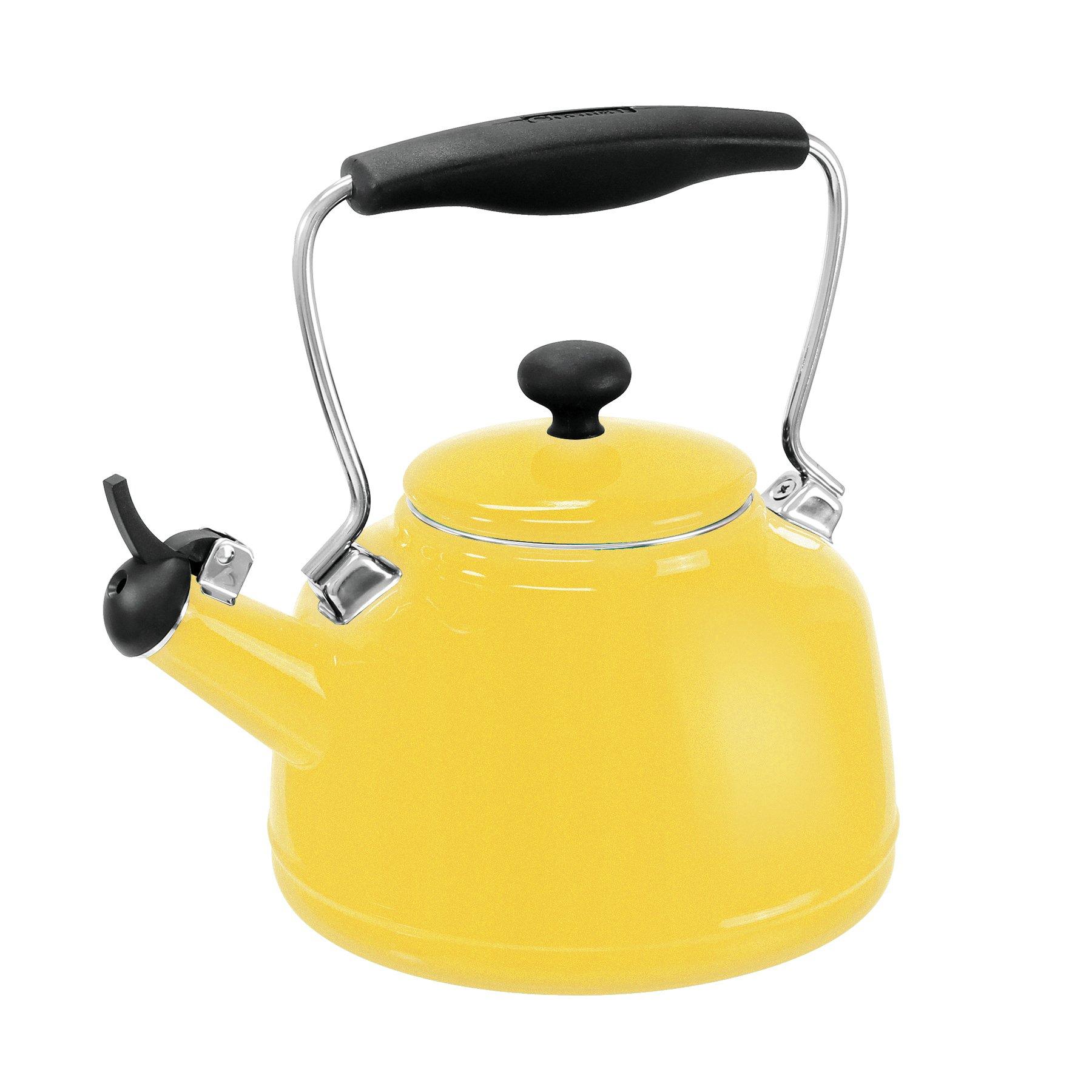 Chantal 37-VINT YC Enamel on Steel Vintage Teakettle, 1.7 quart, Canary Yellow