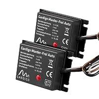 Gardigo Marder-Frei Auto 2er Set, Marderschreck, Anschluss an 12V Autobatterie, schonender Marderschutz als KFZ - Zubehör