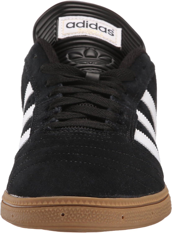 adidas Originals Herren Busenitz Turnschuh, Scarlet/White/Silver Core Black, Ftwr White, Gold Met.