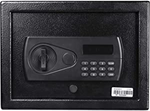 AEGIS Top Opening Security Safe Box Electronic Digital Drawer Safe with Keypad Code Lock Box Quick-Access Safes Key for Home Hotel Office Drawer Closet