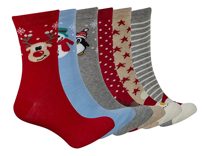 metzuyan Mujer Navidad calcetines regalo calcetín de Navidad para papá Noel Reno