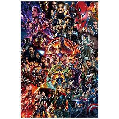 SMC Jigsaw Puzzle Jigsaw Puzzle, 300/500/1000/1500 Pieces, Avengers Marvel Decompression Wooden Adult Children Jigsaw Toy Gift (Color : A, Size : 1000 Pieces): Home & Kitchen