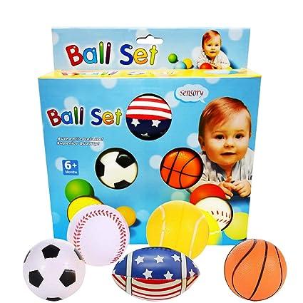 Amazon.com: Juego de 5 bolas deportivas mini baloncesto ...