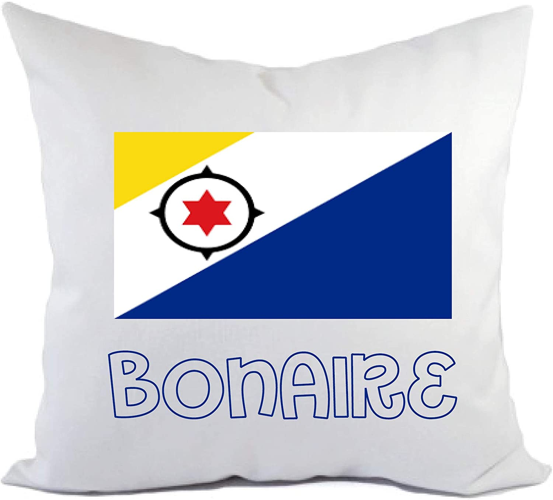 Tipolitografía Ghisleri cojín bonaire bandera funda y relleno 40 x 40 cm de poliéster