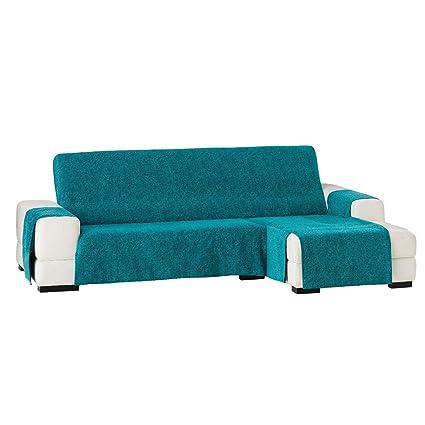 Jarrous Funda Cubre Chaise Longue Modelo Love, Color Azul Turquesa (C/03), Medida Normal (240cm), con Brazo Derecho (Mirándolo de Frente)