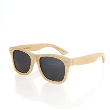 3a3d1b4d0e Bamboo Wood Wooden Polarized Sunglasses by Shaderz - Vintage Retro Classic  100% Natural Eco Friendly