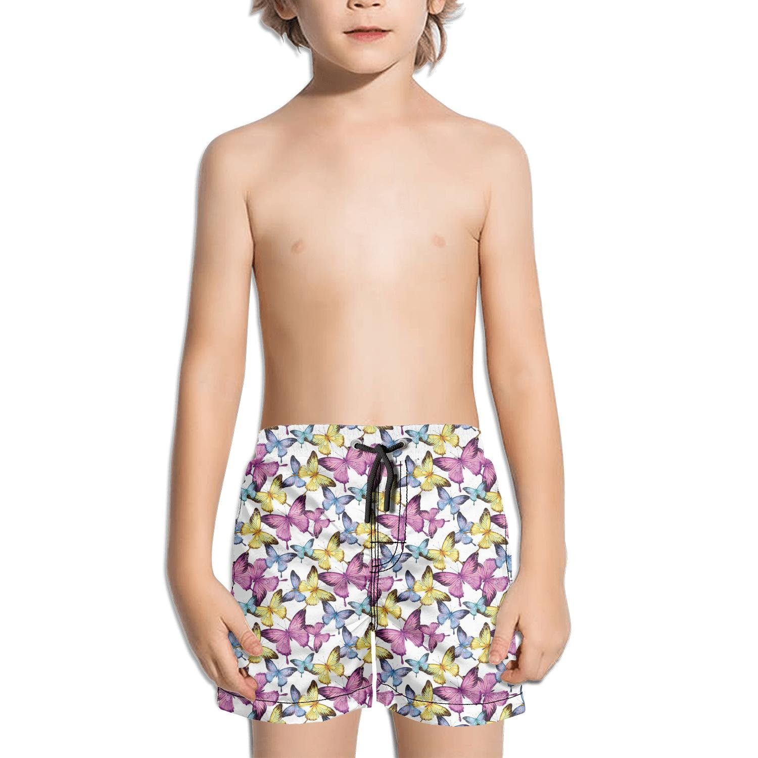 Websi Wihey Boy's Quick Dry Swim Trunks The Colourful Butterfly Fashione Shorts