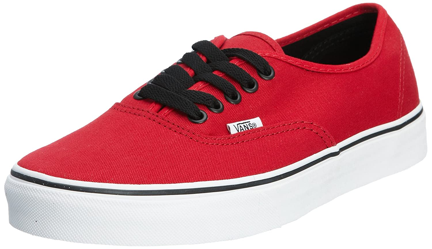 [バンズ] VANS VANS AUTHENTIC VEE3 B01MYQ2KLH 5.5 B(M) US Women / 4 D(M) US Men|Chili Pepper/Black Chili Pepper/Black 5.5 B(M) US Women / 4 D(M) US Men