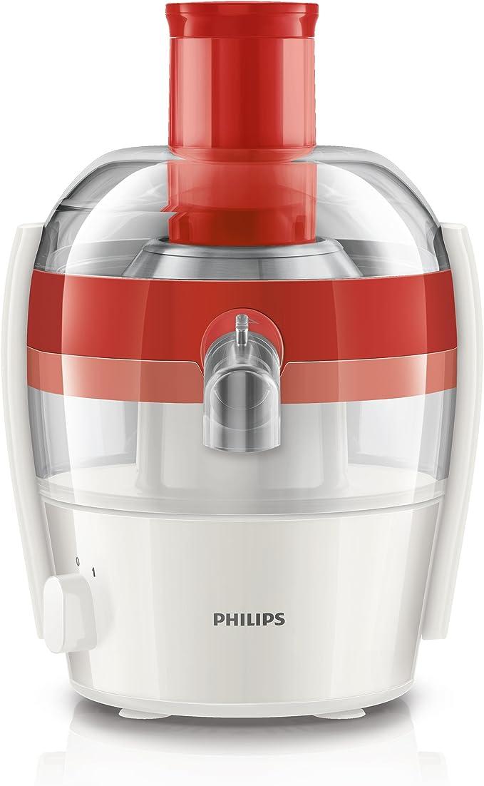 Philips HR1832/40 - Exprimidor eléctrico, 400 W, color rojo y ...