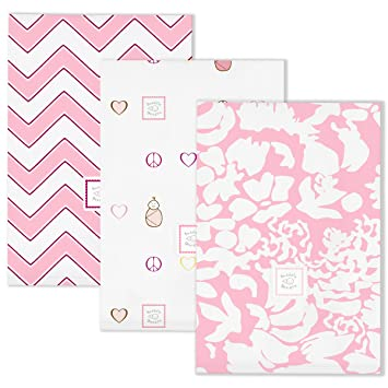 SwaddleDesigns Set of 3 Pink Burp Cloths