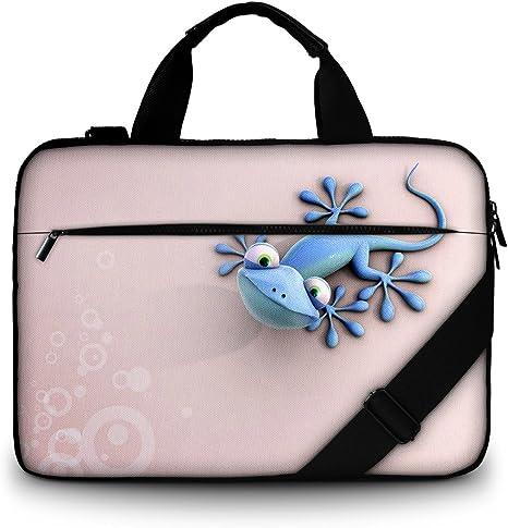 bolsa de hombro multifuncional tela de retazos 17,3 pouces Luxburg/®/-/Bolso acolchado con bandolera para ordenador port/átil