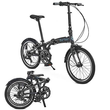 Sampa de Durban XL Bicicleta Plegable Shimano Negro para ...