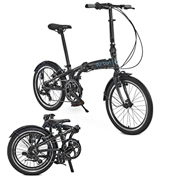 "Durban Sampa XL Folding Bike Shimano Black Bicycle Adults Men Women 24"" Wheel"