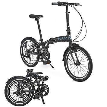 """Sampa de Durban XL bicicleta plegable Shimano negro para bicicleta adultos hombres mujeres 24 """""""