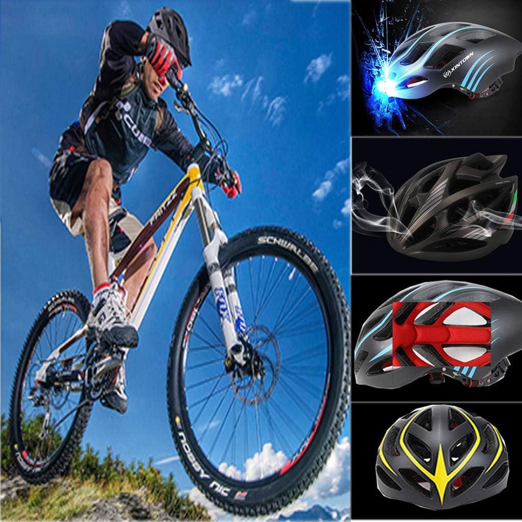 SMILEQ Casco de Bicicleta Ligero para Hombre y Mujer Casco de ...