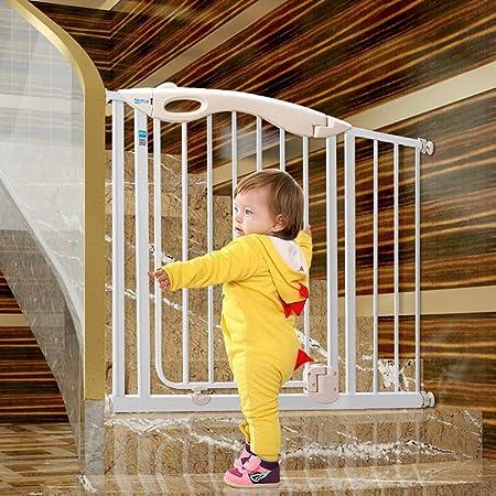Puerta De Seguridad para Bebés para Escaleras, Puertas Y Pasillos, Puerta para Mascotas De 76 Cm De Altura, Montada A Presión, Cierre Automático (Size : 105-112cm): Amazon.es: Hogar