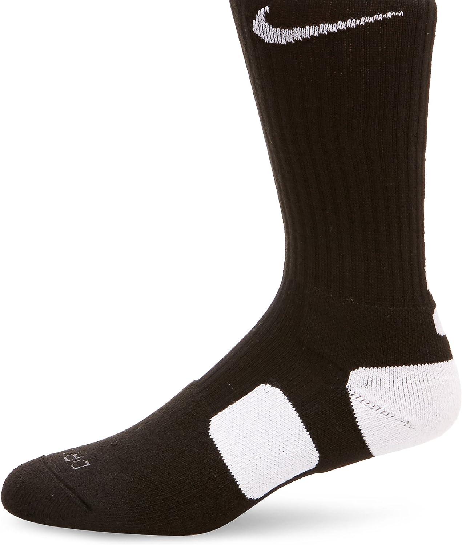 Nike Elite Cushioned Crew Basketball Socks - 1 Pair - Medium - Mens 6-8 or  Womens 6-10 Size Black