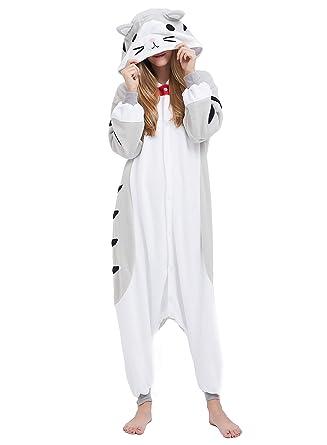 Fandecie Animal Costume Animal Traje Pijamas Pijamas Jumpsuit Oso Pardo Mujer Hombre Cosplay Adulto para Carnaval Animal Halloween