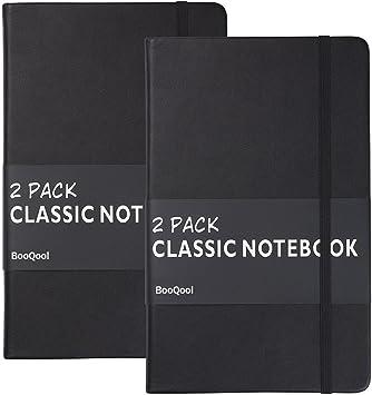 // liniert 160 S 5x Notizbuch DIN A5 5 verschiedene Farben PU Hardcover
