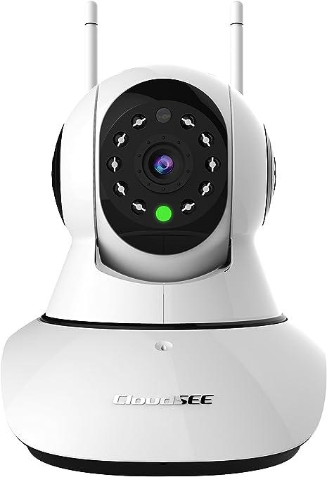 Jovision cámara IP de vigilancia y seguridad, 2 antenas WiFi, 1 puerto Ethernet HD 720P, 1 MP, interior, para hogar y oficina, visión día y noche, ...