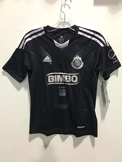 1bdb0d8cae2 Amazon.com   Club Chivas Guadalajara black jersey negra adidas 2013-2014  kids size   Sports   Outdoors
