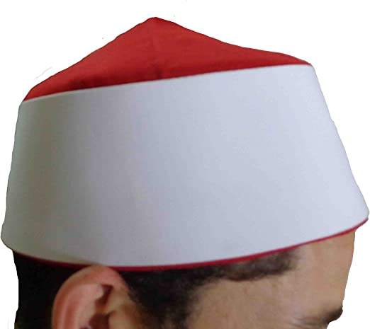 Men Kufi koofi Kofi Hat Skull Cap Islamic Muslim Prayer Topi Head Wear Clothing