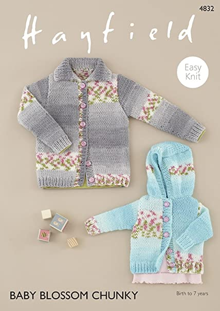 0034f66bf Sirdar 4832 Knitting Pattern Baby Childrens Easy Knit Cardigans in ...
