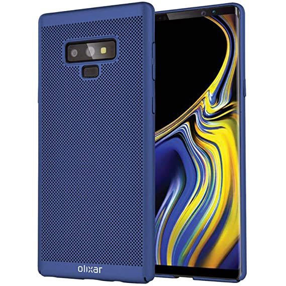 pretty nice e6564 697d5 Olixar Breathable Case for Samsung Galaxy Note 9 - Heat Dissipating - Mesh  Cover - Cooling Material - Wireless Charging Compatible - MeshTex - Blue