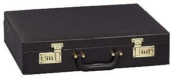 Gräwe – Maletín maletín Attache – Cubertería (vacío), Color Negro, con candado