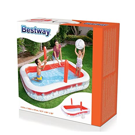 XiYunHan Piscina Inflable Oceano Ball Pool niño Piscina de Padel Voleibol Espesar Multijugador Rojo Blanco