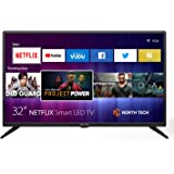 """NT North Tech 32"""" LED HD Smart TV - CCD Aspect Ratio:16:9, Response time: 8ms, Resolution: 720P - Wi-Fi 