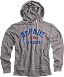 best service a068c 78108 Campus Colors DePaul Blue Demons Arch Basic French Terry Hood - Sport Gray,