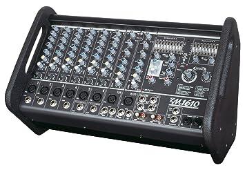 Yorkville M1610 - Caja de 2 Powered Mixer 2 x 800 W, 10 entradas mezclador/Amp: Amazon.es: Instrumentos musicales