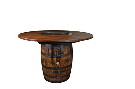 Amazoncom Rustic Whiskey Barrel Table Wine Barrel Table Bar